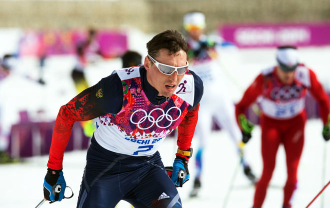 ALEXANDER LEGKOV imponerade i OS-stafetten och är en av favoriterna på femmilen på söndag. Foto: NORDIC FOCUS