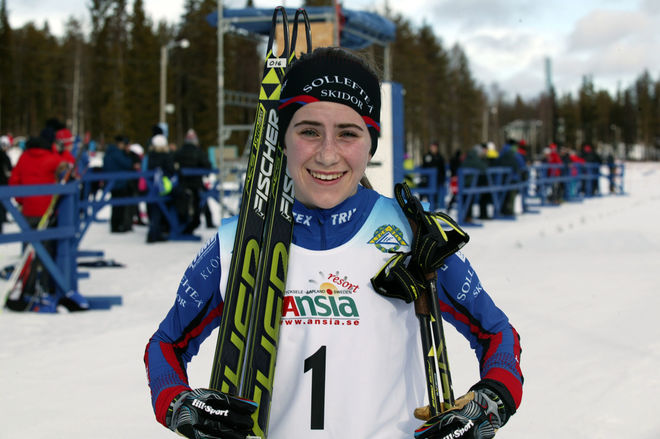 EBBA ANDERSSON slog alla senioråkarna i Daniel Karlssons Minne i Östersund. Foto: KJELL-ERIK KRISTIANSEN