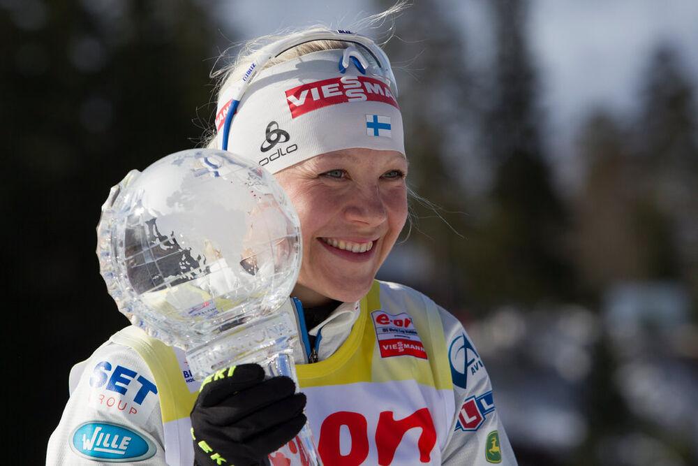 23.03.2014, Oslo, Norway (NOR): Kaisa Maekaeraeinen (FIN)- IBU world cup biathlon Holmenkollen, cups, Oslo (NOR). www.nordicfocus.com. © Manzoni/NordicFocus. Every downloaded picture is fee-liable.