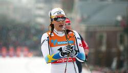 STINA NILSSON i Drammen där hon för första gången klev upp på pallen i världscupen! Foto: MARCELA HAVLOVA