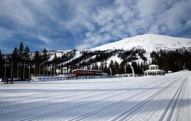HELLNERSTADION i Gällivare med Dundret i bakgrunden är arena för JSM på skidor 2021. Foto/rights: KJELL-ERIK KRISTIANSEN/kekstock.com