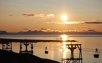Midnattssol på Svalbard Foto: Jorunn Tove Høiland