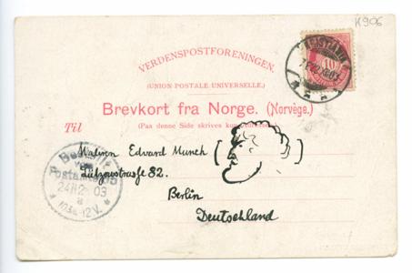Brevkort fra Lundvig Ravensberg
