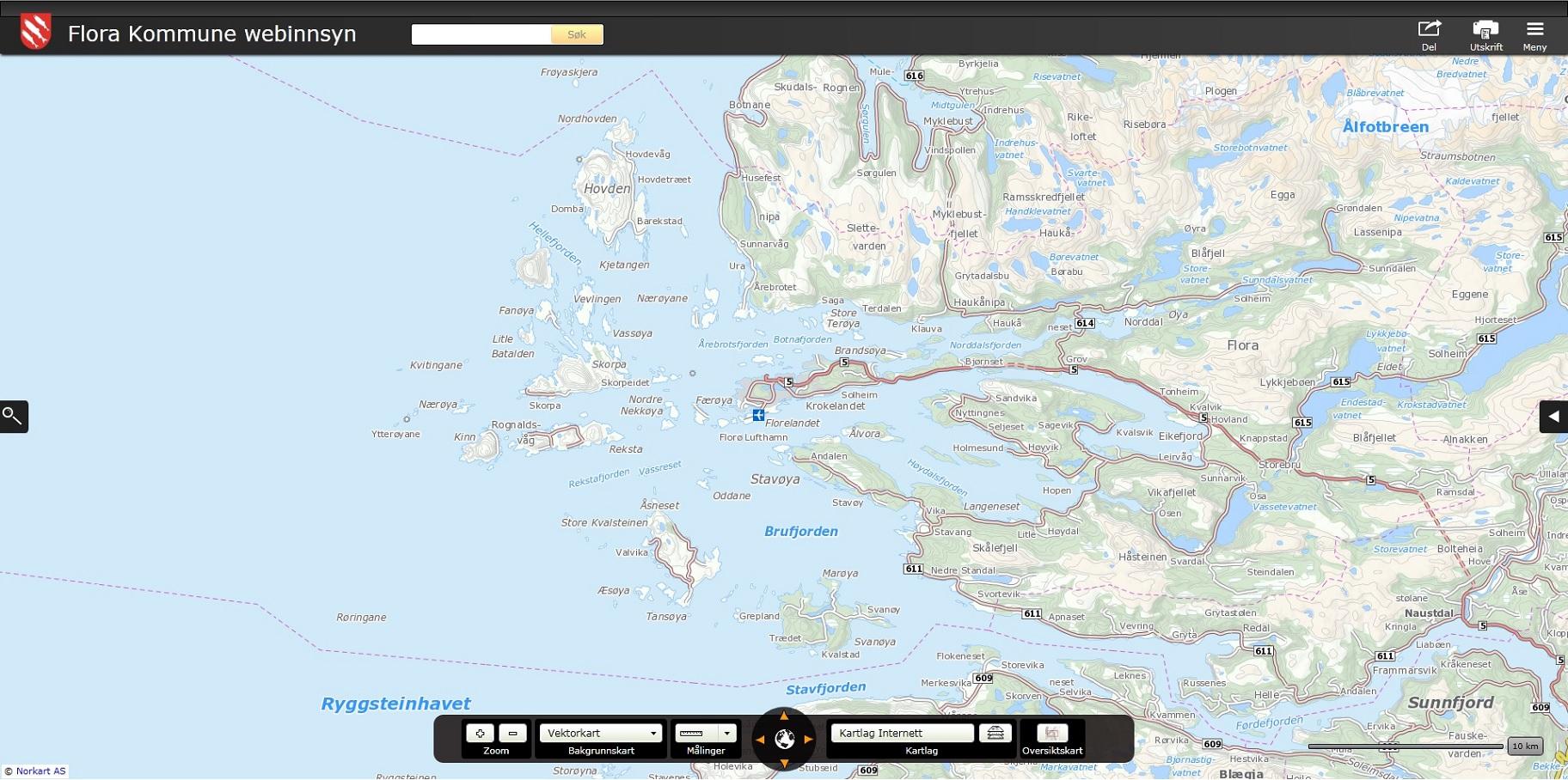 flora kommune kart Kartportalen   Kart på internett   Flora kommune flora kommune kart
