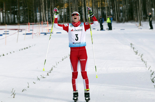 EMMA RIBOM slutade tvåa igen i Muonio - den här gången i fristil. Foto/rights: KJELL-ERIK KRISTIANSEN/sweski.com