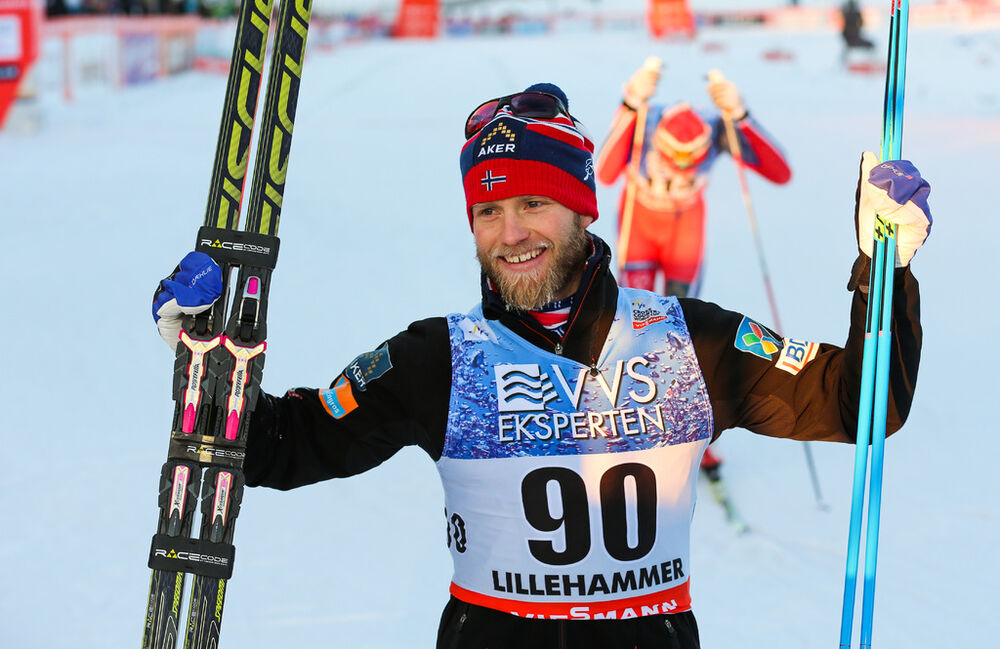 06.12.2014, Lillehammer, Norway (NOR): Martin Johnsrud Sundby (NOR), Fischer, KV+, Rottefella, Swix- FIS world cup cross-country, 10km men, Lillehammer (NOR). www.nordicfocus.com. © Laiho/NordicFocus. Every downloaded picture is fee-liable.