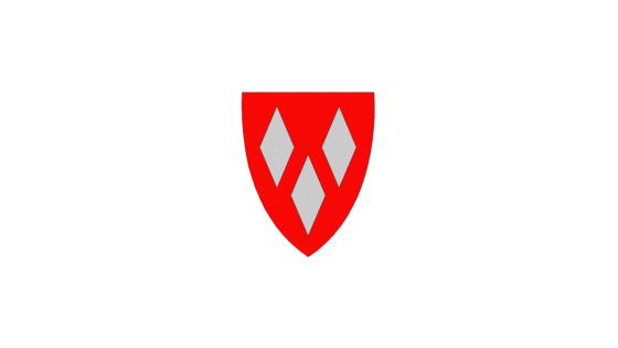 Kommunevåpen forside dyp rød