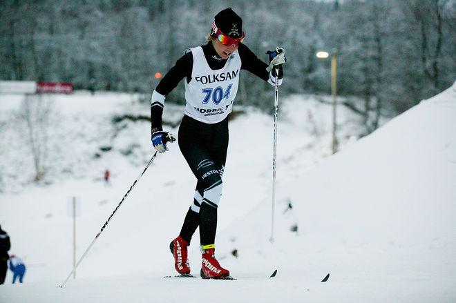 HEDDA BÅNGMAN var snabbaste tjej i prologen vid JVM-testet i Torsby där man idag åker klassisk sprint. Foto/rights: MARCELA HAVLOVA/sweski.com