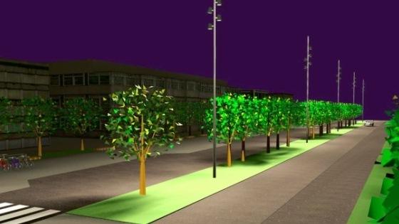 Illustrasjonsbilde av hvordan Rådhusplassen blir etter oppgraderingen