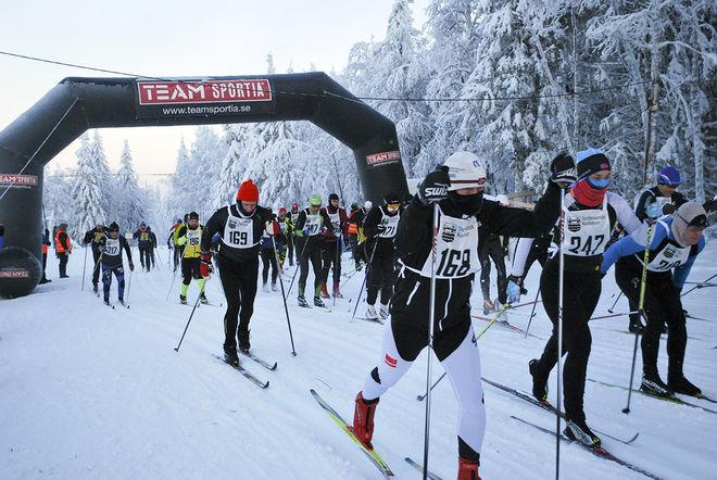HÄR EN BILD från starten av Tåsjödalen Classic Ski förra året. Foto: ARRANGÖREN