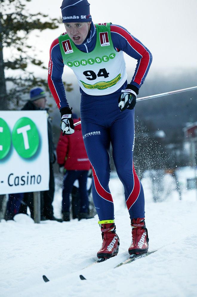 JOHAN LÖVGREN, Vännäs SK spurtade hem seger i det 41 km långa loppet Tåsjödalen Classic Ski under söndagen. Foto/rights: MARCELA HAVLOVA/sweski.com