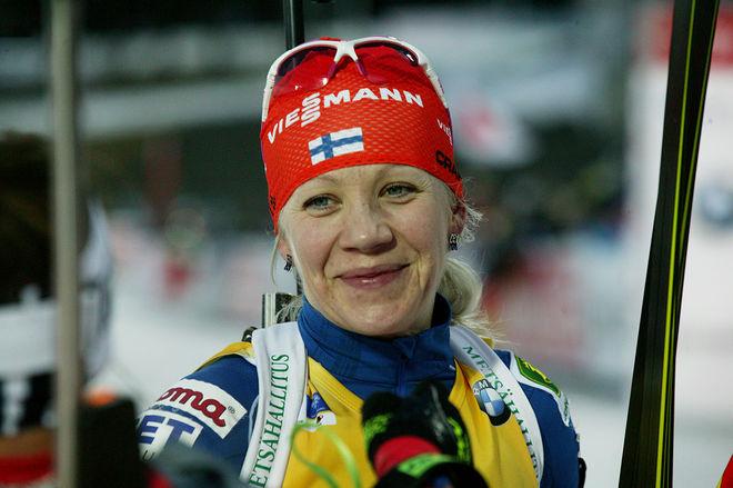 FINLANDS SKIDSKYTTE-STJÄRNA Kaisa Mäkäräinen kommer inte att åka längd-VM i Falun. Hon förbereder sig för skidskytte-VM på hemmaplan i Kontiolahti. Foto/rights: MARCELA HAVLOVA/sweski.com