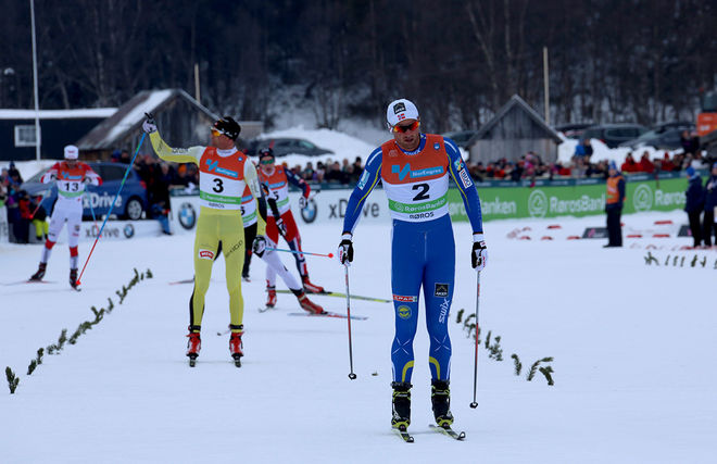 PETTER NORTHUG jr gjorde en mer än svettig avslutning på herrarnas skiathlon vid NM i Røros och vann före Niklas Dyrhaug. Foto/rights: MARCELA HAVLOVA/sweski.com