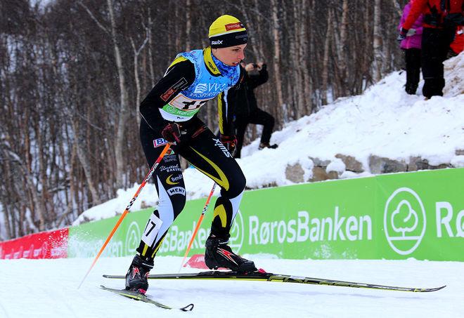 INGRID VIKMAN hoppade in som ankare för sitt Gjerdrum IL och grejade en 6:e plats på norska mästerskapen i stafett där hon tog över efter OS-segrarinnan Maiken Caspersen Falla. Foto/rights: MARCELA HAVLOVA/sweski.com