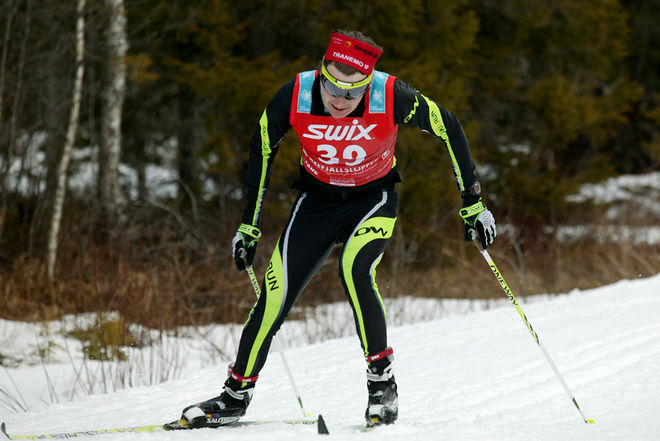 MARKUS JÖNSSON från Tranemo vann Borås Ski Maraton 2015. Foto/rights: MARCELA HAVLOVA/sweski.com