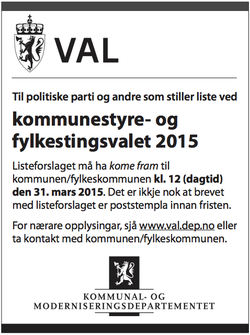Annonse val 2015