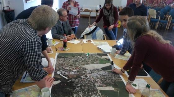 Bilde fra workshop om arealplanlegging med ungdom i Ås