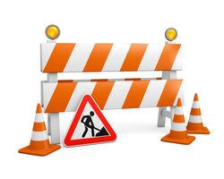 Veiarbeid - veien stengt!