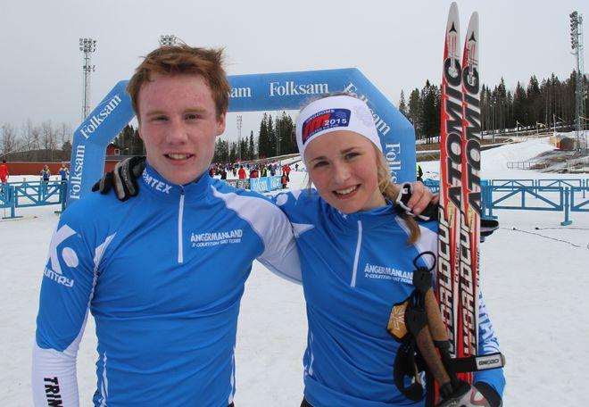 Ångermanland vann sprintstafetten