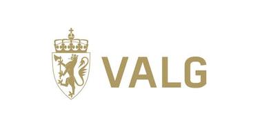 Logo for valg 2017 med riksløve i gull