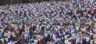 DET BLIR nog trångt i starten av Vasaloppet också 2016. Loppet är redan fullbokat. Foto: VASALOPPET