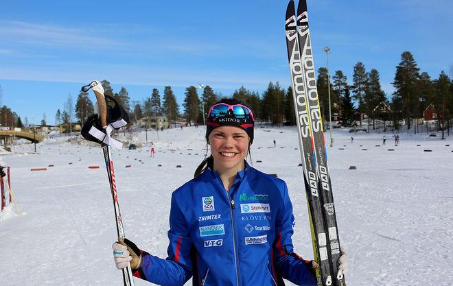 JENNY SOLIN avgjorde JVM-stafetten i spurten och säkrade ett sensationellt guld till Sverige. Foto/rights: KJELL-ERIK KRISTIANSEN/sweski.com