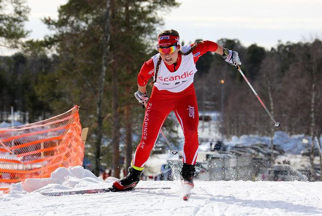 JOHANNA HAGSTRÖM, Falköpings AIK var bästa förstaårsjunior i D17-18 i årets Scandic Cup. Hon var dessutom tvåa i finalen i Kalix. Foto/rights: KJELL-ERIK KRISTIANSEN/sweski.com