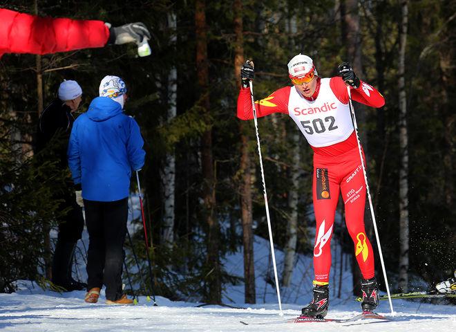 ADAM PERSSON, Borås SK har tagit jättekliv den här säsongen och var klart bäst av åkarna födda 1998 i H17-18 i Scandic Cup. Foto/rights: KJELL-ERIK KRISTIANSEN/sweski.com