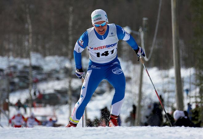 ERIK SILFVER, IFK Umeå var snabbast över 15 km i Arvidsjaur. Foto/rights: KJELL-ERIK KRISTIANSEN/sweski.com