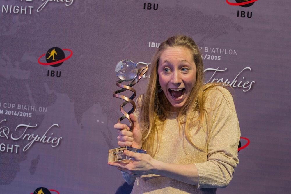 22.03.2015, Khanty-Mansiysk, Russia (RUS): Enora Latuilliere (FRA)- IBU world cup biathlon, IBU Award Night, Khanty-Mansiysk (RUS). www.nordicfocus.com. © Manzoni/NordicFocus. Every downloaded picture is fee-liable.