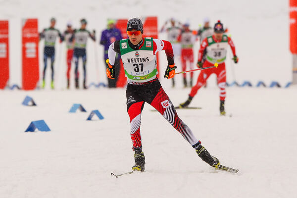 06.03.2015, Lahti, Finland (FIN): Lukas Greiderer (AUT), Fischer, Leki, Loeffler- FIS world cup nordic combined, individual gundersen HS130/10km, Lahti (FIN). www.nordicfocus.com. © Laiho/NordicFocus. Every downloaded picture is fee-liable. NordicFocus