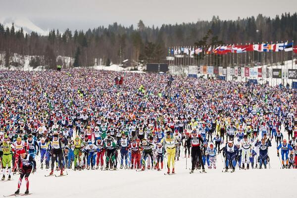 08.03.2015, Mora, Sweden (SWE): start of the Vasaloppet- FIS Marathon Cup Vasaloppet, Mora (SWE). www.nordicfocus.com. © Felgenhauer/NordicFocus. Every downloaded picture is fee-liable. NordicFocus