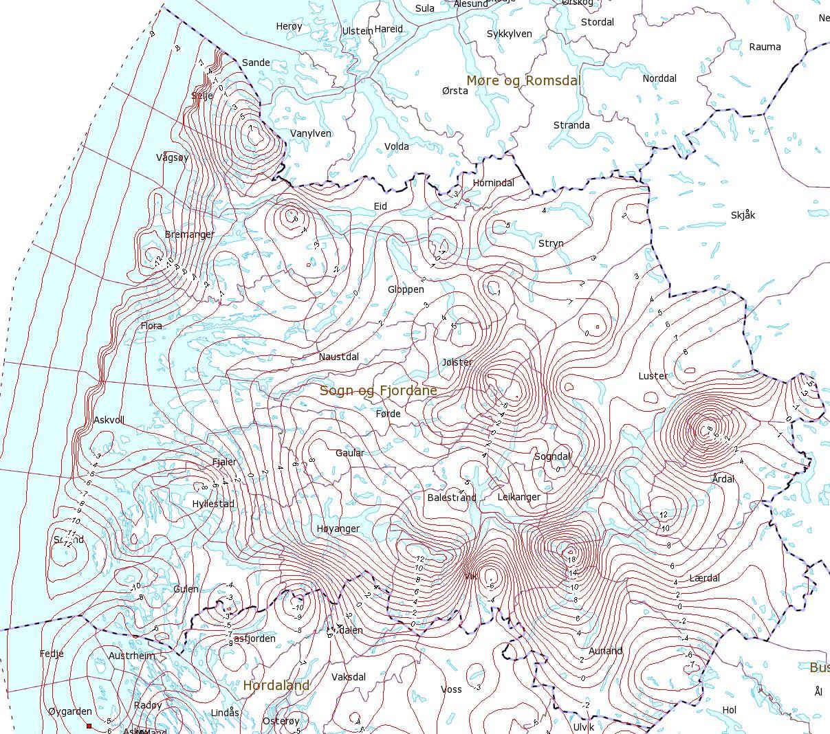 Plakat Sogn Og Fjordane Gra Bakgrunn Plakat Handtegnet Og Kart