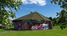 Paviljongen nydekorert 2015 Ås mart