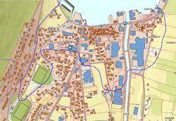 Kart fiber 2 Vik sentrum
