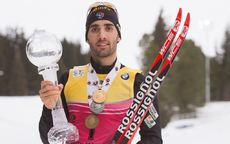 22.03.2015, Khanty-Mansiysk, Russia (RUS): Martin Fourcade (FRA) - IBU world cup biathlon, cups, Khanty-Mansiysk (RUS). www.nordicfocus.com. © Manzoni/NordicFocus. Every downloaded picture is fee-liable.