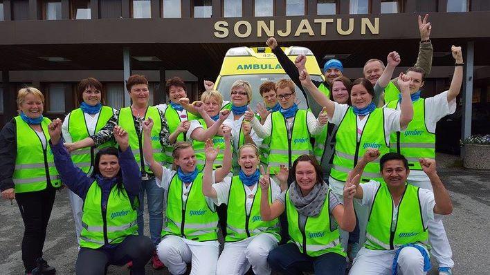 Glade arbeidere Sonjatun sykehjem