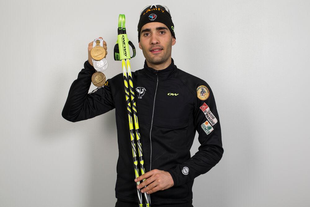14.03.2015, Kontiolahti, Finland (FIN): Martin Fourcade (FRA)- IBU world championships biathlon, medals, Kontiolahti (FIN). www.nordicfocus.com. © NordicFocus. Every downloaded picture is fee-liable.