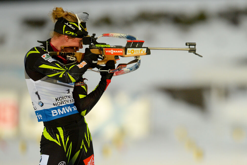 08.03.2015, Kontiolahti, Finland (FIN): Marie DORIN HABERT (FRA),- IBU world championships biathlon, pursuit women, Kontiolahti (FIN). www.nordicfocus.com. © Evgeny Tumashov/ NordicFocus. Every downloaded picture is fee-liable.