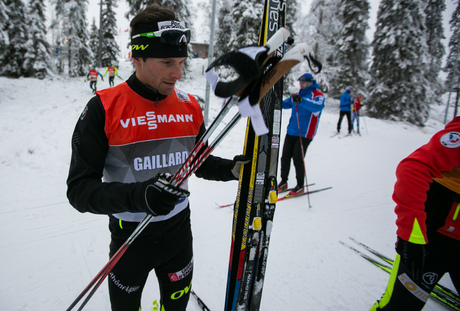 28.11.2014, Ruka, Finland (FIN): Jean Marc Gaillard (FRA), Salomon, Swix, One Way- FIS world cup cross-country, training, Ruka (FIN). www.nordicfocus.com. © Laiho/NordicFocus. Every downloaded picture is fee-liable.