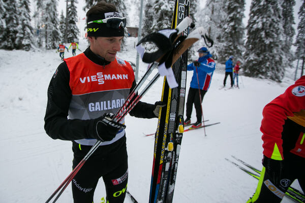 28.11.2014, Ruka, Finland (FIN): Jean Marc Gaillard (FRA), Salomon, Swix, One Way- FIS world cup cross-country, training, Ruka (FIN). www.nordicfocus.com. © Laiho/NordicFocus. Every downloaded picture is fee-liable. NordicFocus