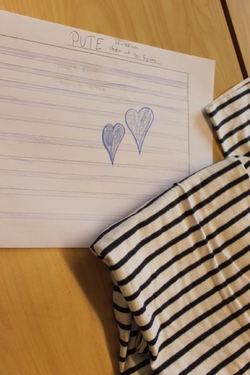 Arbeidsteikning, tekstil