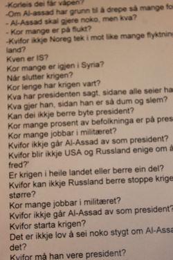 Spørsmål om Syria