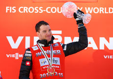 14.03.2015, Oslo, Norway (NOR): distance world cup winner Dario Cologna (SUI), Fischer, One Way, Rottefella, Odlo- FIS world cup cross-country, mass men, Oslo (NOR). www.nordicfocus.com. © Laiho/NordicFocus. Every downloaded picture is fee-liable.