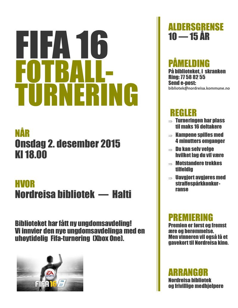 Plakat Fifa turnering