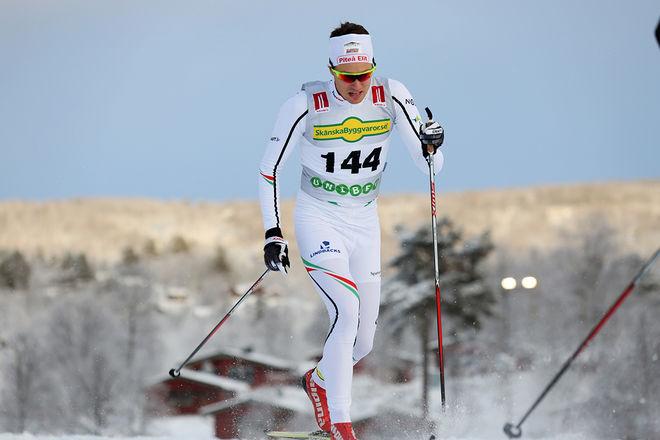 KARL EDENROTH, den tidigare JVM-åkaren från Piteå Elit, vann Stellinloppet i Arvidsjaur. Här från Bruksvallsloppet förra veckan. Foto/rights: KJELL-ERIK KRISTIANSEN/sweski.com