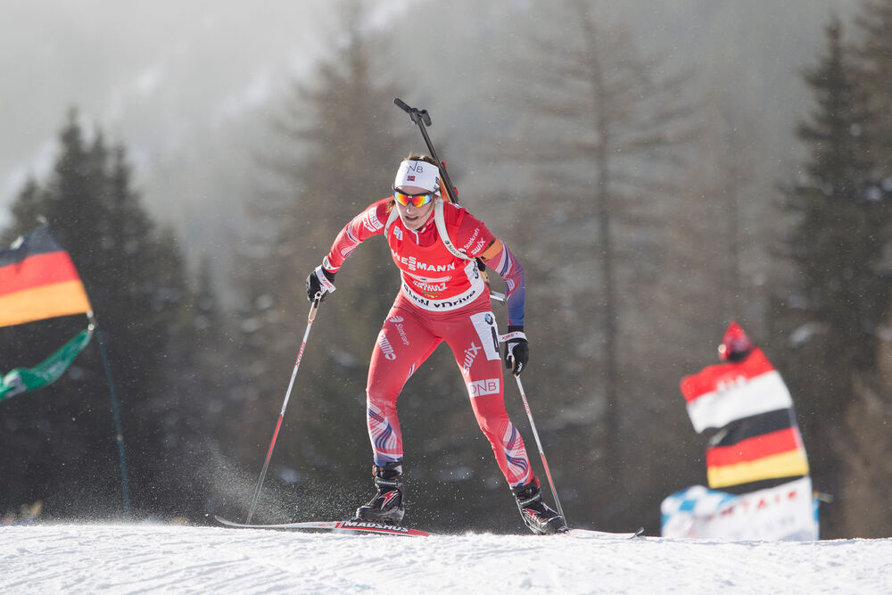 25.01.2015, Antholz, Italy (ITA): Bente Landheim (NOR)- IBU world cup biathlon, relay women, Antholz (ITA). www.nordicfocus.com. © Manzoni/NordicFocus. Every downloaded picture is fee-liable.