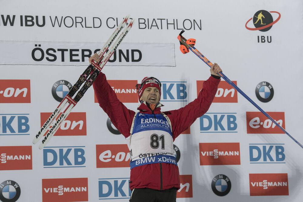 02.12.2015, Oestersund, Sweden (SWE):Ole Einar Bjoerndalen (NOR) - IBU world cup biathlon, individual men, Oestersund (SWE). www.nordicfocus.com. © Manzoni/NordicFocus. Every downloaded picture is fee-liable.