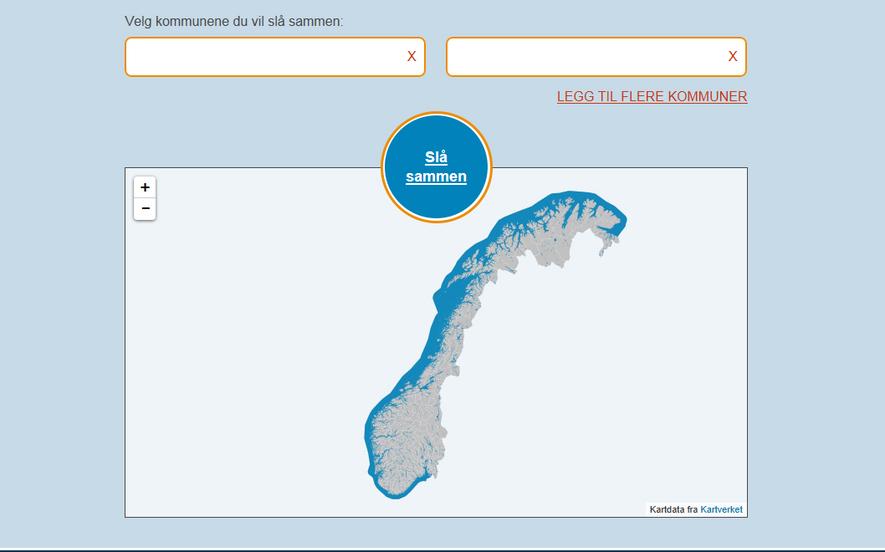 Ny kommune illustrasjonsfigur