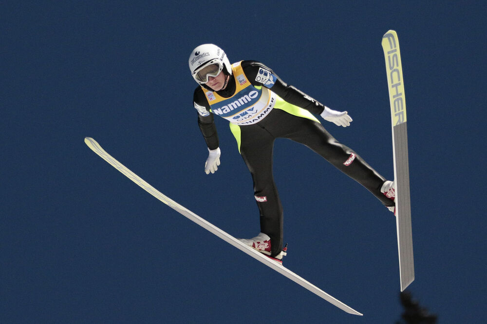 04.12.2015, Lillehammer, Norway (NOR):Daniela Iraschko-Stolz (AUT) - FIS world cup ski jumping ladies, individual HS100, Lillehammer (NOR). www.nordicfocus.com. © Modica/NordicFocus. Every downloaded picture is fee-liable.